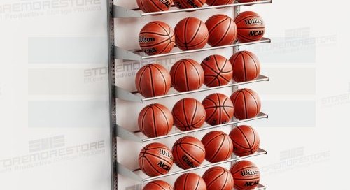 Vertical Basketball Racks | Wall Mounted Ball & Gear Storage