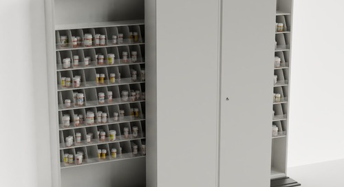 Mobile Sliding Pharmacy Storage Shelving on Tracks