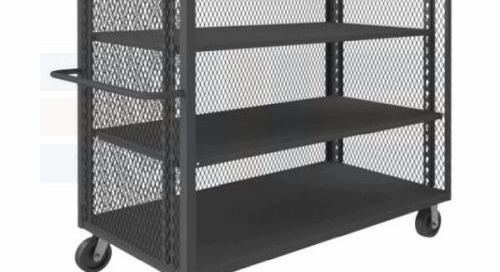 Expanded Metal Carts with Security Mesh Side Panels