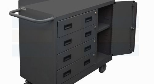 Mobile Workbench Carts & Steel Drawer Storage Cabinets