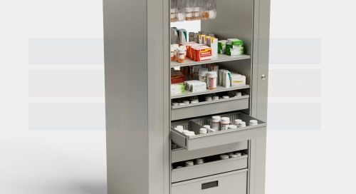 Rotating Pharmacy Cabinets Medication Supply Storage