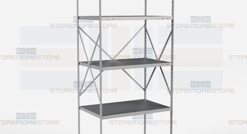 Beaded Post Type Shelves | Open & Closed Industrial Shelving