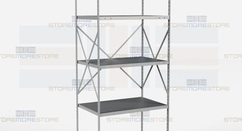 Beaded Post Type Shelves | Open & Closed Industrial Shelving