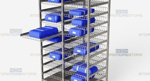 Sterile Core Storage Racks for Surgical Instrument Kits