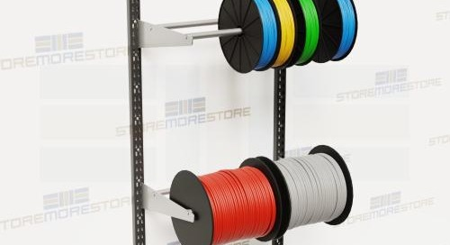 Wire Spool Racks | Wall Mounted Cable Reel Dispensing Storage