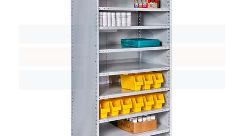 Antimicrobial Medical Shelving Open & Closed Supply Storage