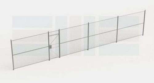 Wire Storage Partition Wall Fencing Safety Gates Police Inmate Containment Cells