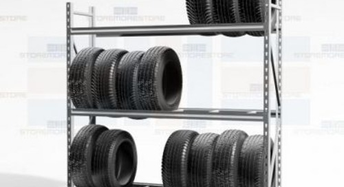 Heavy-Duty Adjustable Tire Racks Large Truck Wheel Display Wall Storage Shelving