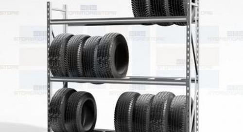 Heavy-Duty Adjustable Tire Racks Large Truck Wheel Display Wall Storage Shelving