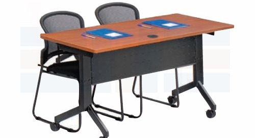 Mobile Folding Conference Tables on Wheels with Flip Tops