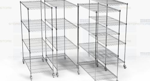 Wire Pull-Out Shelving Racks | NSF Listed Sanitary Storage