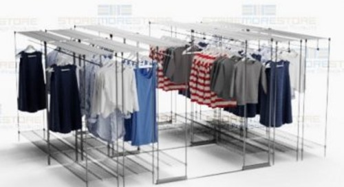 Garment Storage Racks Store Hanging & Folded Clothing