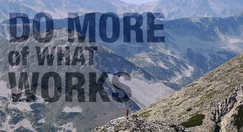 Goal-Setting Idea: Do More Of What Works