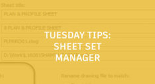 Sheet Set Manager Tips: Tuesday Tips With Seth