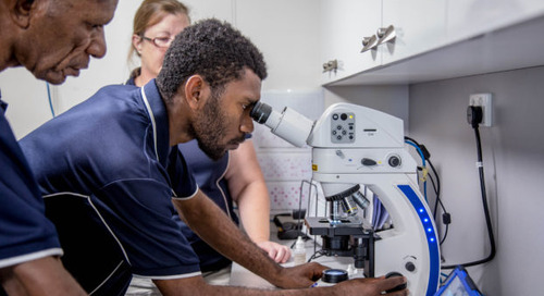 Microscopy aboard a Medical Ship in Papua New Guinea