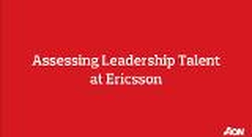 Aon supports Ericsson with the assessment of leadership talents