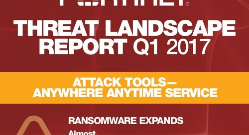 Infographic: Fortinet Q1 2017 Threat Landscape Report