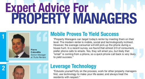 Expert Advice: Social Media Secrets for Property Management Professionals [Infographic]