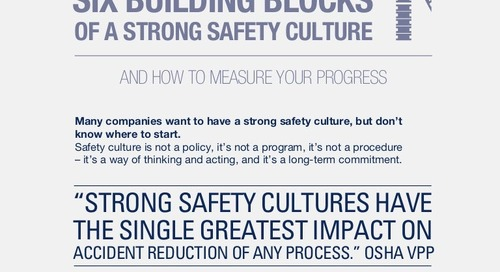 Six Building Blocks of a Strong Safety Culture