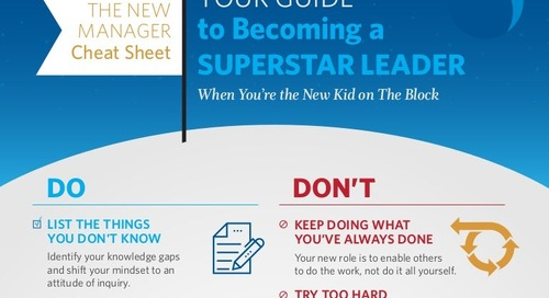 The New Manager Cheat Sheet: What To Do When You're the New Kid on the Block