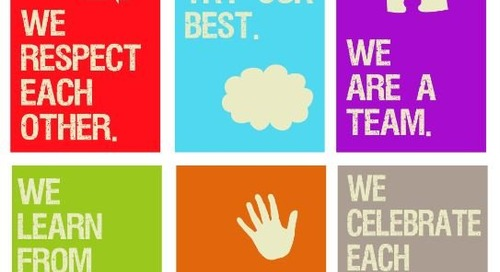 5 Colorful Classroom Management Posters