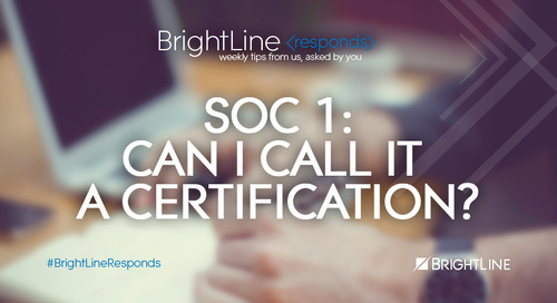 SOC 1: Can I Call It a Certification?