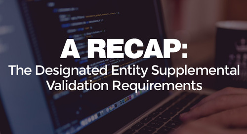 The Designated Entity Supplemental Validation Requirements