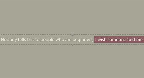 What Nobody Tells Beginners: Advice on Creativity From Ira Glass