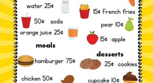 Menu Math: Lesson Plan for Grades 1-3