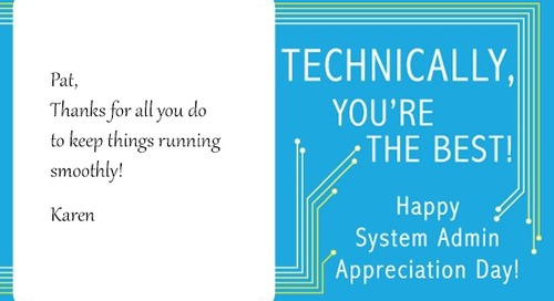 System Administrator Appreciation Day: Small Ways to Show Your Appreciation