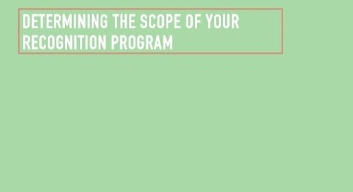 Free Download: Determining the Scope of Your Recognition Program