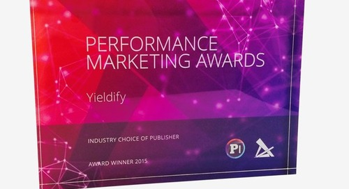 Yieldify Wins Industry Choice of Publisher at the Performance Marketing Awards 2015