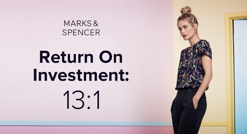 How M&S Achieved a 13x Increase On ROI with Exit Intent Overlays