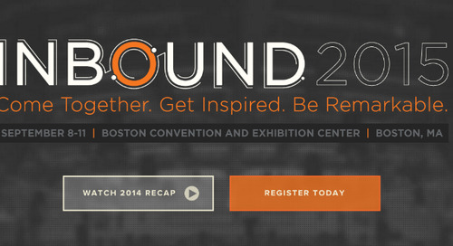 Ready, Set, Register: The Agenda for INBOUND 2015 Is Out