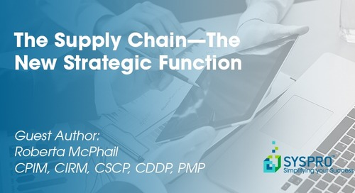 The Supply Chain—The New Strategic Function