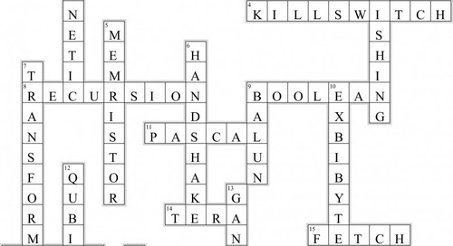 Electrical Engineering Crossword (Issue 315)