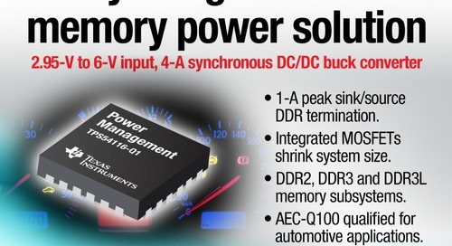 Fully Integrated DDR Memory Power Solution