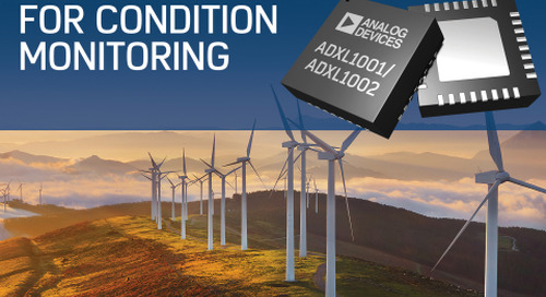 New MEMS Accelerometers for Industrial Condition Monitoring Apps