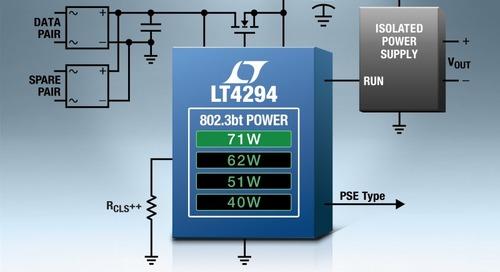 IEEE 802.3bt PD Controller Offers 99% Efficiency