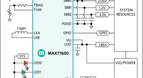 Compact Power Management ICs Boast Low Standby Power