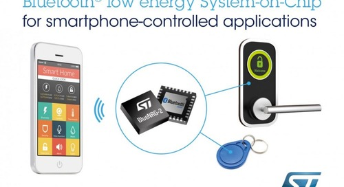 BLE Chip from STMicroelectronics Targets Connected Smart Things