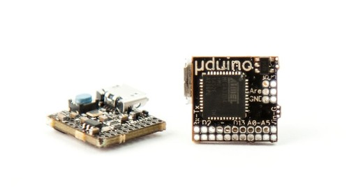 Crowd Funded Arduino Board Measures 0.5. x 0.5 Inches
