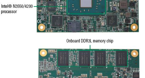 COM Express Type 10 Mini Board Boasts Wide Temp Range