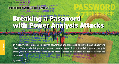 Breaking a Password  with Power Analysis Attacks