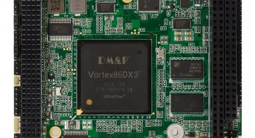 PC/104 Card Features DMP Vortex DX-3 SoC