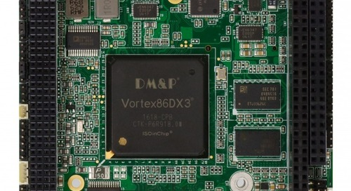 PC/104 Card Features DMP Vortex DX-3 SoC