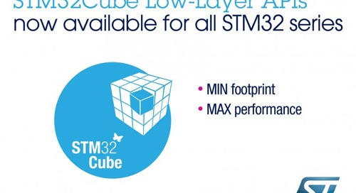 ST Deploys Low-Layer Software for All STM32 MCUs