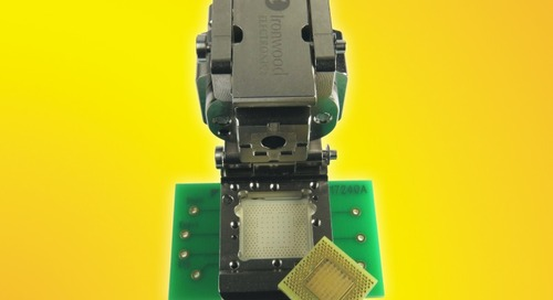 QFN Socket Supports 0.65-mm Pitch Devices at High Temp Range
