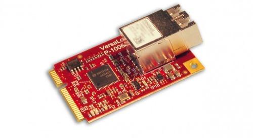 Mini PCIe Card Does Ethernet Over Fiber