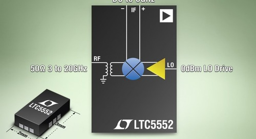 Wideband Mixer Has 3 mm x 2 mm Package